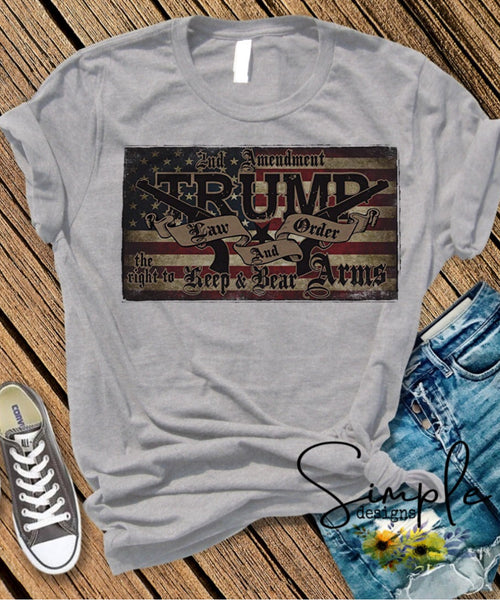 Trump Second Amendment 2020 T-shirt, Shirts, Kids, Youth, Raglan