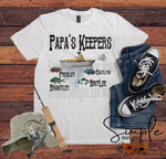 Papas Keepers Custom T-shirt, Fathers Day, Grandparents Day