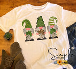 St Patrick's Gnomes T-shirt, St Pattys Day, Lucky, Irish