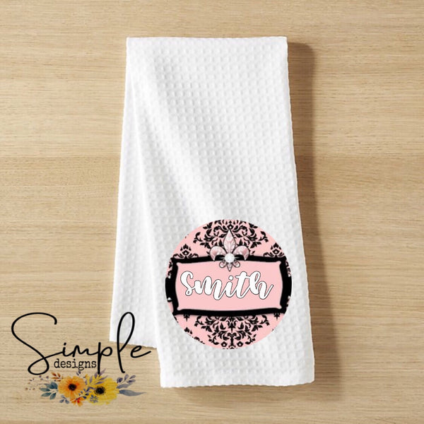 Custom Name Hand Towel, Decorative Kitchen Towel, Personalized