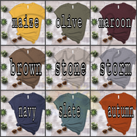 Thankful Colored Pumpkin T-shirts, Cozy Comfy Custom Shirts