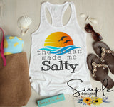 The Ocean Made Me Salty T-shirt, Custom Tees, Tank Tops