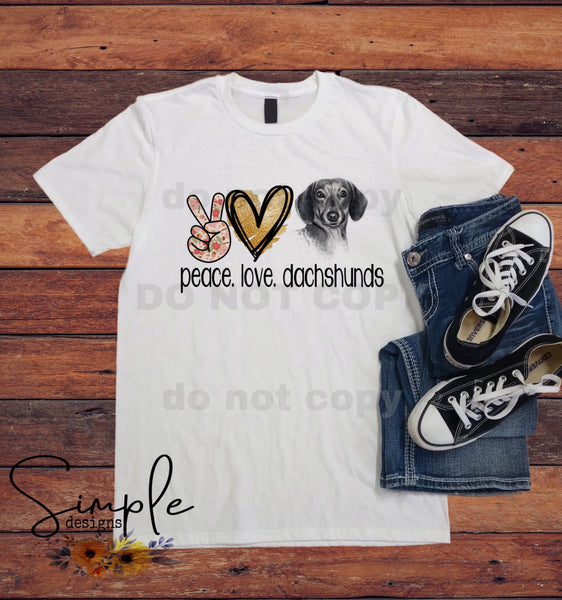 Peace Love Custom Pet T-shirts, Cute Pets Tees, FurBaby