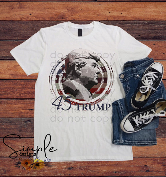 Trump 45th President T-shirt, Custom Tees, Tank Tops