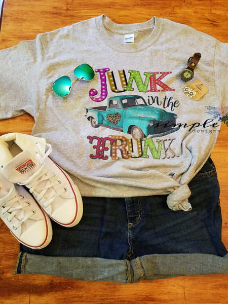 Junk in the Trunk T-shirt, Antique Truck Shirt, Retro, Vintage