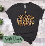Leopard Pattern Pumpkin T-shirts, Fall, Autumn Bella Canvas, Next Level