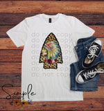 Indian Arrowhead T-shirt, Raglan, Custom Shirts