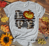 Love Halloween T-shirt, Halloween Tees, Fall Raglans