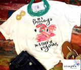 Flamingo Shirt, Be a Flamingo in a Flock of Pigeons T-shirt