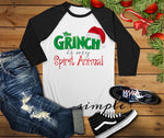 The Grinch is My Spirit Animal Christmas Tree Shirt, Merry Christmas