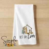 Best Day Ever Custom Hand Towel, Decorative Kitchen Towel, Personalized