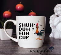 Shu Duh Fuh Cup Mug, 11oz Coffee Mug, Personalized Coffee Mug