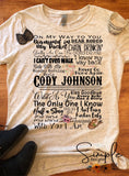 Cody Johnson Lyrics T-shirt, Raglan, Country Music Lyrics