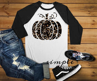 Pumpkin Fall Raglan, Fall-time T-shirt, Fall, Halloween