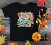 Happy Fall Y'all Blue Truck T-shirts, Cozy Comfy Custom Shirts