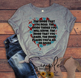 The More You Read T-shirt, Dr Seuss, Kids, Youth, Raglan