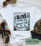 Framed Alexa Write My Lesson Plans T-shirt, Humor Graphic Tees, Custom Raglans