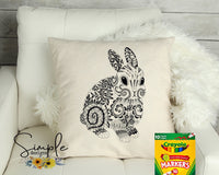 Abstract Bunny Happy Easter Color-It, Washable Marker Designs, Puzzle, Pillow Cases
