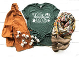 One Thankful Mama T-shirt Sale Bella Canvas Tees