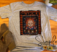 Chucky Wanna Play With Plaid Halloween T-shirts, Fall, Cute Custom Tees
