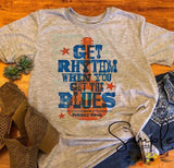 Get Rhythm When You Get the Blues Tshirt, Merle Haggard Country Music Tees, Raglans