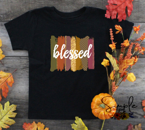 Blessed Fall Colored Paint Strokes T-shirts, Cozy Comfy Custom Shirts