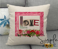 Love Valentine's Day Pillow Sham, Decorative Pillow Cases, Throw Pillow