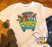 Scooby and Crew T-shirt, Custom Tees, Tank Tops