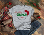 Resting Grinch Face Christmas Tree Shirt, Merry Christmas