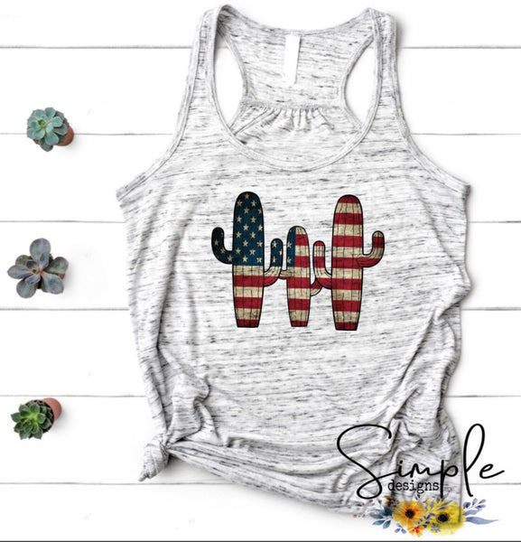 Patriotic Cactus T-shirt,Independence Day,4th Of July