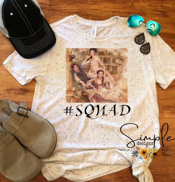 Outlander Squad T-shirt, Outlander, TV Shows, Entertainment, Custom Tees