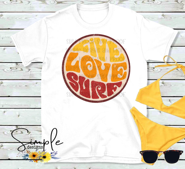 Live Love Surf T-shirt, Raglan, Music Tees, Lyrics