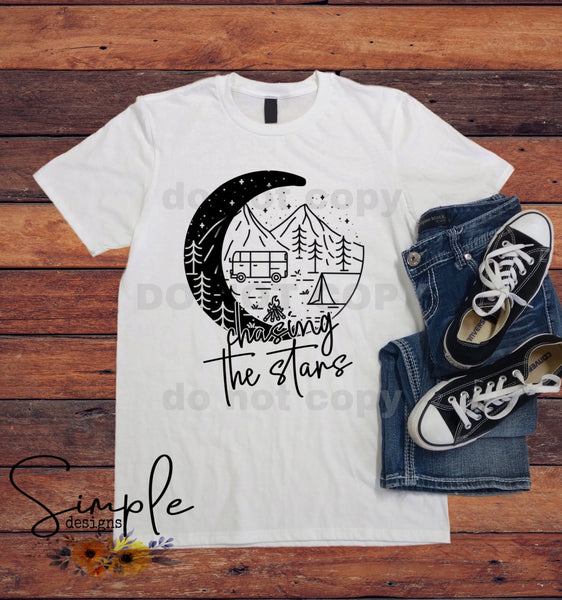 Chasing the Stars T-shirt, Custom Tees, Tank Tops