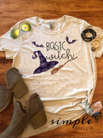 Basic Witch T-shirt, Halloween Tees, Fall Raglans