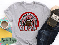 Georgia Rainbow T-shirt, GA Bulldogs Raglan, GO DAWGS, Fall, Football, Custom Tees, Personalized Teams