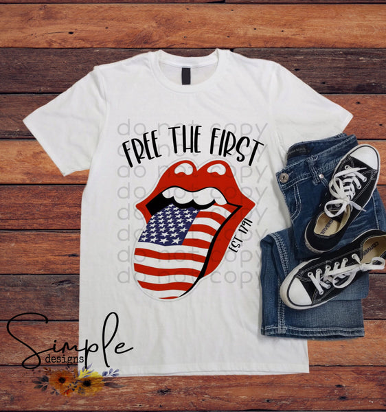 Free the First T-shirt, Raglan, Custom Shirts