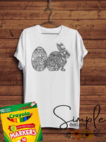 Egg and Bunny Color-It, Washable Marker Designs, Puzzle, Pillow Cases