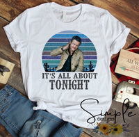 It's All About Tonight Blake Shelton Lyrics T-shirt, Raglan, Country Music Lyrics