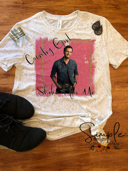 Girl Shake It for Me T-shirt, Country Music