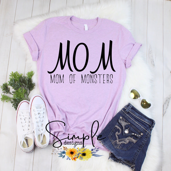Mom of Monsters T-shirt, Mother, Mom, Madre, Mother's Day