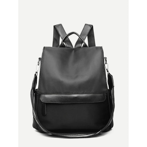 Women s Black Square Backpack – Regrunged Clothing f4c2f725ef08f