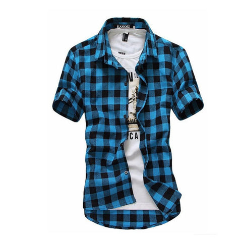 80139028490 Men s Red and Black Plaid Business Casual Grunge Flannel Shirt ...