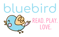 bluebird read play love bird image