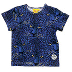 Blauwe panter t-shirt