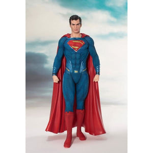 ARTFX+ Justice League The Flash Action Figure Batman The Dark Knight Wonder Woman Superman Action Comics PVC Collection Model - super man -