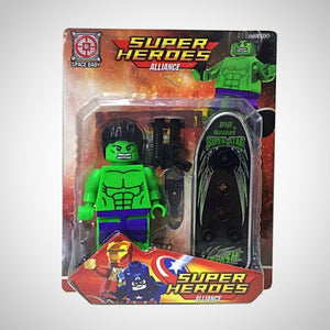 Hulk - Vingadores - Super Heroes Alliance - - Action Figures Avengers Bloco De Montar Colecionáveis My Geek Stock