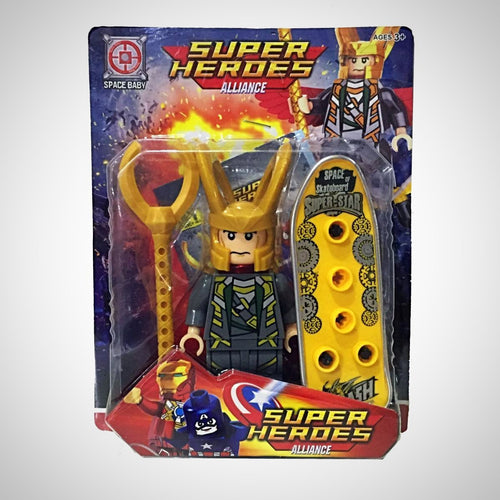 Loki - Vingadores - Super Heroes Alliance - - Action Figures Avengers Bloco De Montar Colecionáveis My Geek Stock