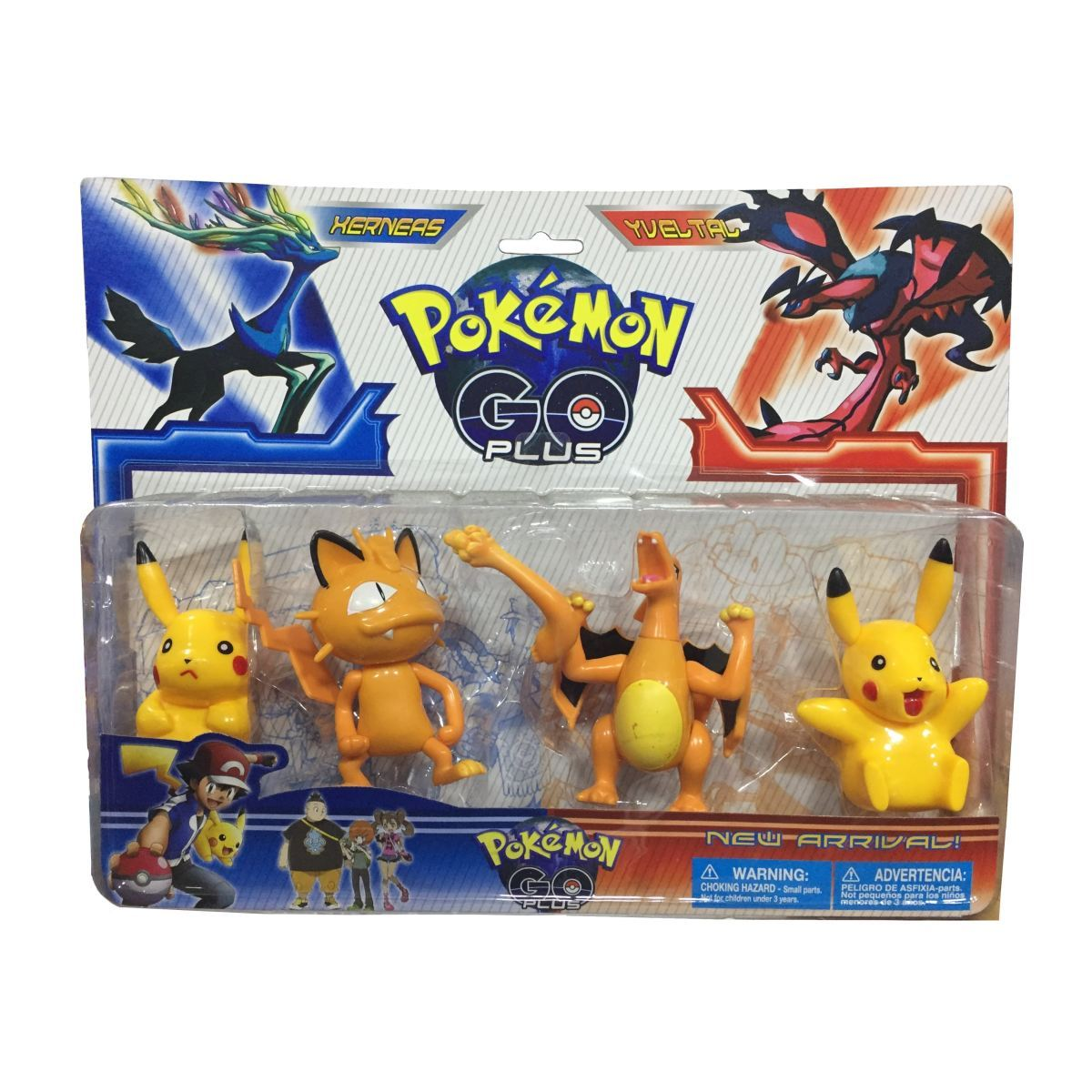 Pokemon Go - 4 Personagens - - Action Figures Charezard Charmander Colecionáveis Miau My Geek Stock