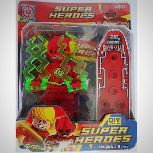 The Flash - Liga Da Justiça - Super Heroes Alliance - - Action Figures Bloco De Montar Colecionáveis My Geek Stock