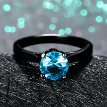 Load image into Gallery viewer, Blue Crystal Stone Wedding Ring